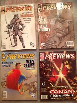 PREVIEWS THE COMIC SHOP'S CATALOG issues for 2005 VF/NM (lot of 8)