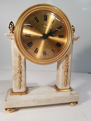 A Stunning French Ormolu and Marble Mantel Clock