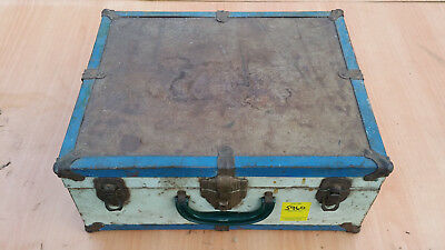 Vintage metal/wood trunk chest suitcase luggage storage antique classic