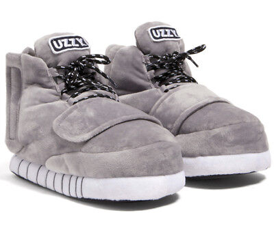Uzzy Main Stage Sneaker Slippers Plush Unisex Grey