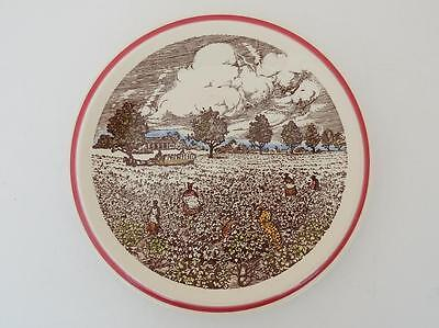 Vernon Kilns California Art Pottery Bits of the Old South Cotton Patch Plate EXC