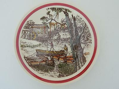 Vernon Kilns California Art Pottery Bits of the Old South The Old Mill Plate EXC