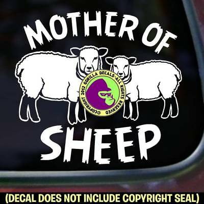 MOTHER OF SHEEP Vinyl Decal Sticker Car Window Wall Trailer Sign