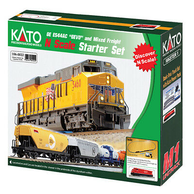 NEW Kato N Gevo ES44AC and Freight Train Starter Set Mixed Canadian Pacific