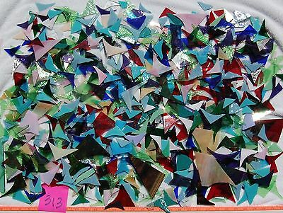 12+Pounds  STAINED GLASS SCRAP PIECES Mixed Color Texture MOSAIC ART CRAFT 313