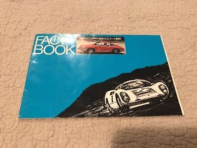 "1969 Porsche 911 / 912 ""Fact Book"" Showroom Sales Brochure RARE!! Awesome L@@K"