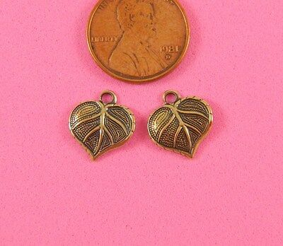 VINTAGE DESIGN ANT BRASS TINY LEAF DROPS-6 PC(s)