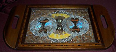 Wonderful Vintage Wooden Butterfly Wing Tray