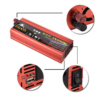 2000W Converter Modified Sine Wave Car Auto Power Inverter Car DC12V to AC 220V