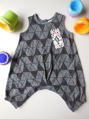 Cute Baby Boy Harlequin Romper Playsuit Outfit Clothes Size 0 Fits 6-12M