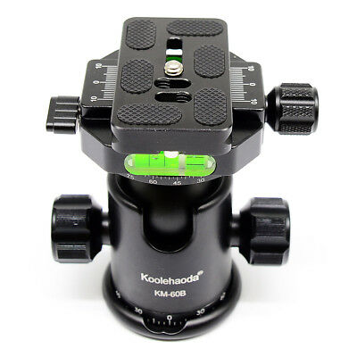 KM-60B Ball Head double Panoramic Head with Quick Release Plate For Camera