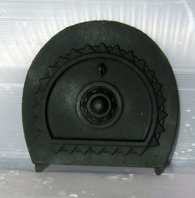 Original Antique Victorian Cast Iron Arch Fireplace Spare Parts: Rear Draw Plate
