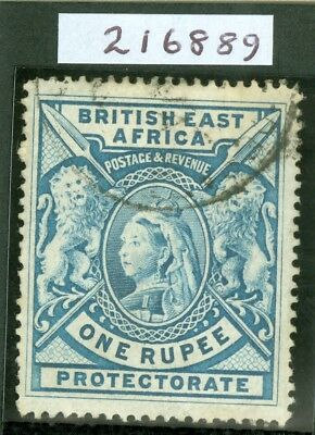 SG 92a British East Africa 1897-1903 1r dull blue. Very fine used. RPS cert