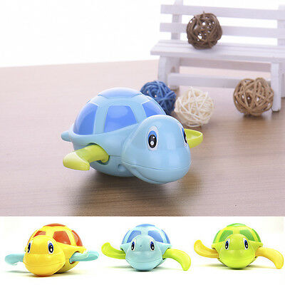 Funny Children Playing In The Water Clockwork Little Turtle Swam Bath Toy New