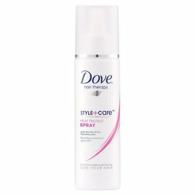 New DOVE HAIR THERAPY STYLE + CARE HEAT PROTECT SPRAY 200ML NOURISHES & PROTECTS