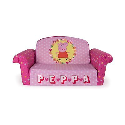 Marshmallow Furniture Children 39 S Upholstered 2 In 1 Flip Open Sofa Peppa Pig Cad