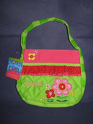 """'ALAYNA """" QUILTED FLOWERED PURSE BY  Stephen Joseph Kids GIRLS Bags  NEW"""