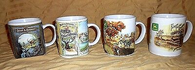 Set Of 4 Gibson JOHN DEERE Collectable Coffee Mugs 2000 Licensed Product
