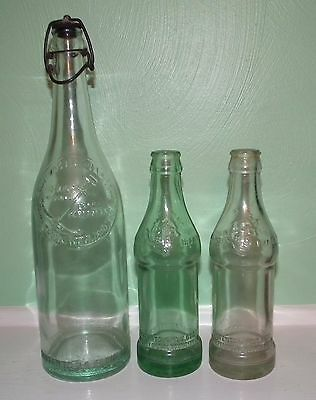 Three early 1900's Coca-Cola straight sided Youngstown Ohio bottles