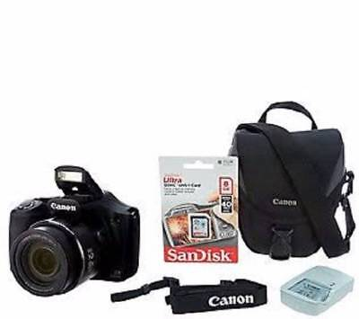 Canon PowerShot SX530 HS Wi-Fi 16MP 50x Zoom Digital Camera with Accessories