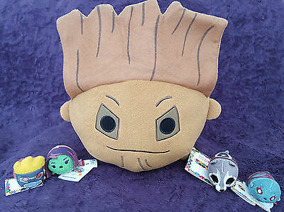 Disney Marvel GUARDIANS OF THE GALAXY Tsum Tsums Plush Set of 5 - Large Groot