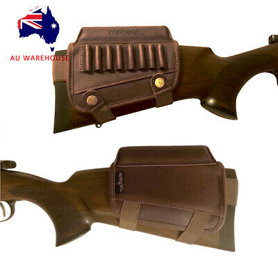 Tourbon Real Leather Rifle Stock Cartridge Pouch Cheek Rest Pad at AU Warehouse