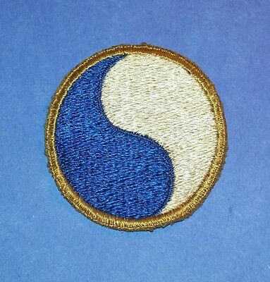 ORIGINAL CUT-EDGE WW2 BRITISH MADE SILK 29th INFANTRY DIVISION PATCH
