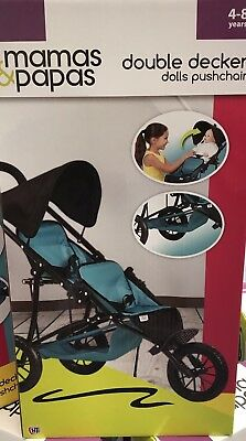 Mamas Papas Twin Double Decker Dolls Pram Pushchair Suitable For XMAS GIFT