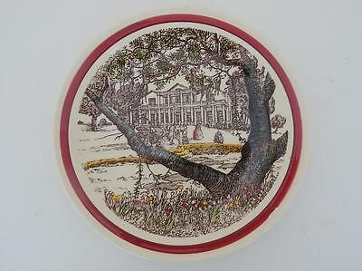 Vernon Kilns California Art Pottery Bits of Old South A Southern Mansion Plate
