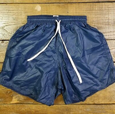 80's Soffee Basketball Shiny PE Shorts Nylon USA High Waist Kids Athletic K1