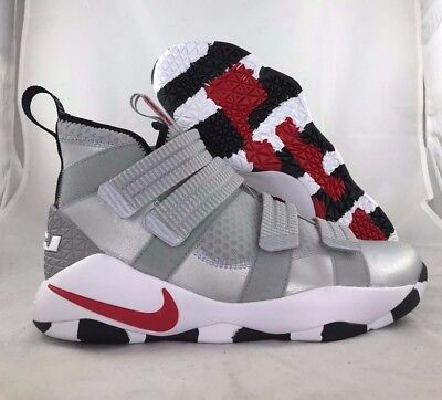 e205d38d5c1 Nike Lebron Soldier XI 11 SFG Silver Bullet Silver Red Black 897646-007  Men s 10