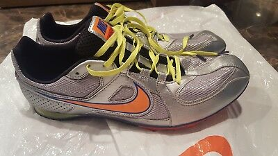pretty nice 878d1 01595 Nike Zoom Rival MD6 Track and Field Shoes Men s Size 11 Silver