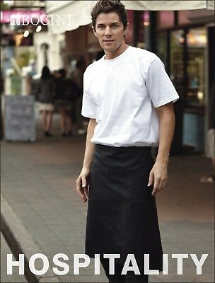Hospitality Light Weight 3 Quarter 3/4 Apron W/ Pocket Barista Chef Waiter ress