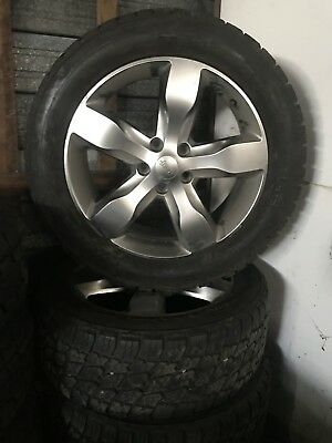 """4X Genuine 20"""" Grand Jeep Cherokee Silver Face  2014 Wheels & A/t Tyres"""