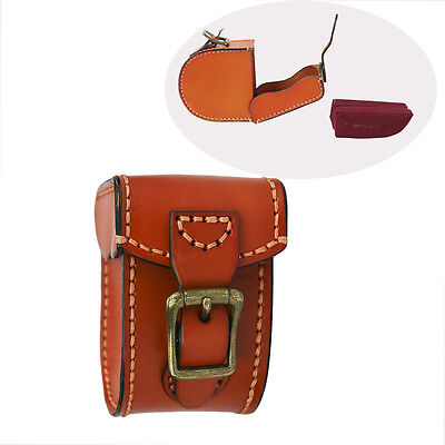 Tourbon Full Leather Reel Case Fly Fishing Carry Pouch Box Storage in AU