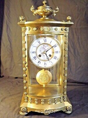 Stunning Large 19c French Serpentine Front Four Glass Fabulous Dial.