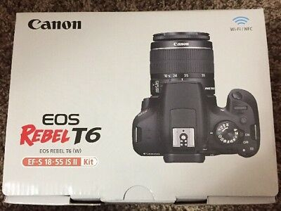Canon EOS Rebel T6 18.0MP Digital SLR Camera - Black Kit with EF-S IS II 18-55mm