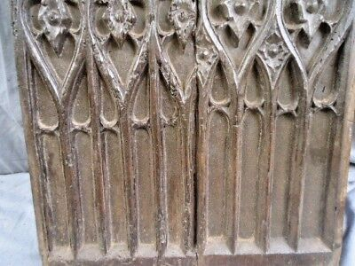 Rare 16Th  Century Oak Carved Medieval Gothic Panel