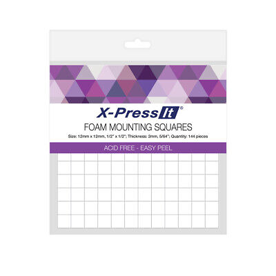 Foam Mounting Squares - X-Press It - 12mm x 12mm x 2mm - 144 pcs