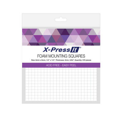 Foam Mounting Squares - X-Press It - 6mm x 6mm x 2mm - 576 pcs