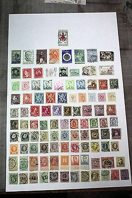 Mixed Lot of 100 Belgium Postal Postage Stamps   Collection    BELG010