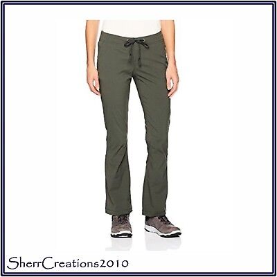 NWT Columbia Women's ANYTIME OUTDOOR Boot Cut Pants Gravel 1467061-339