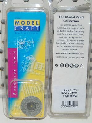 Modelcraft 2 X Fine 22 Mm  Cutting Saws & Mandrel Psa2102S Dremel Etc