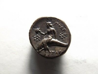 Higher Quality Silver Ancient Greek Coin - Calabria, Taretum, Dolphin; 6.3 Grams