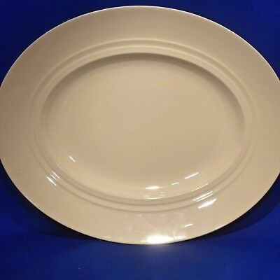 "Vintage 1930s NEW HALL Art Deco CREAMWARE - Large Oval SERVING PLATTER (14⅛"")"