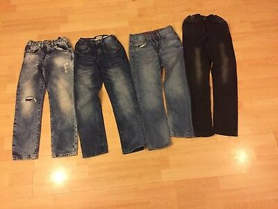 Boys Bundle 4 pairs of Zara adjustable waist Jeans Aged 6-7 Years