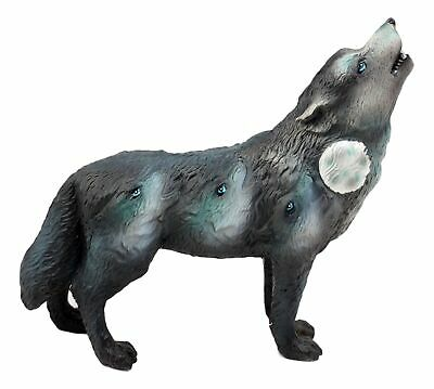 "Full Moon Wolf Pack Native Tribal Howling Wolf Totem Spirit Figurine 6.25""L"