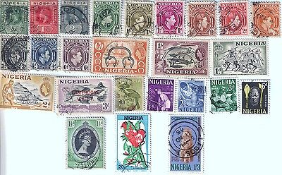 25 different older used stamps from Nigeria