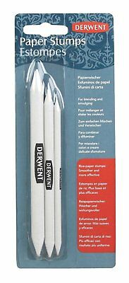 Derwent Rice Paper Stumps for Blending and Smudging - Pack of 3