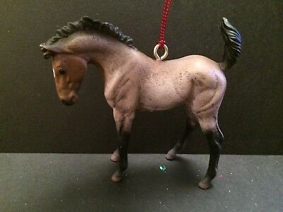 Horse Xmas Christmas Red Roan Foal Colt Filly Mustang  CHRISTMAS TREE ORNAMENT